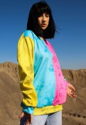 Blusa Moletom Tie Dye Estampado ElephunK Full Print Unissex Color Block