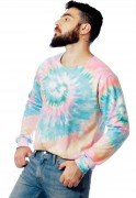 Blusa Moletom Tie Dye Estampado ElephunK Full Print Unissex ColorFull