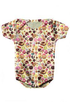 BODY INFANTIL ESTAMPADO FULL PRINT KANDY COUTURE