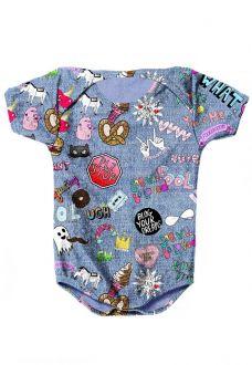 BODY INFANTIL ESTAMPADO FULL PRINT LOL JEANS