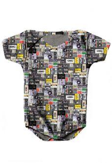 BODY INFANTIL ESTAMPADO FULL PRINT VINTAGE K7
