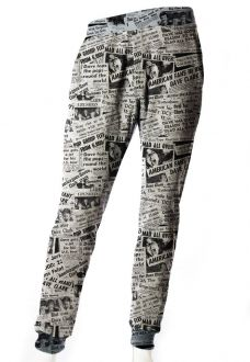 CALÇA JOGGER MOLETOM ESTAMPADA UNISSEX NEWSPAPER