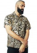 Camisa Animal Print Estampada ElephunK Unissex Onça Amarela