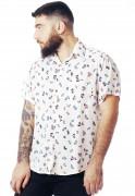 Camisa Arte Estampada ElephunK Barcelona Branca