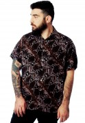 Camisa Estampada Animal Print ElephunK Unissex Cobra Marrom