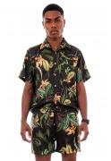 Camisa Estampada Folhagens Sem Gênero ElephunK Selva Amazônica Verde
