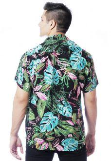 Camisa Tropical Estampada ElephunK Unissex Botânica Verde