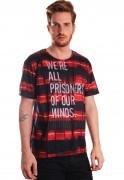 Camiseta Clube da Luta Estampada Full Print Unissex All Prisoners BF3