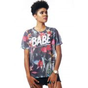 CAMISETA ESTAMPADA FULL PRINT UNISSEX BABE TROPICAL
