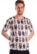 Camiseta Estampada Full Print Unissex Onde Vivem Os Monstros BF