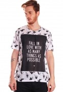 Camiseta Estampada Full Print Unissex Roupas Tumblr Fall In Luv BF2