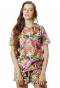 CAMISETA FLORAL ESTAMPADA FULL PRINT UNISSEX HAWAII