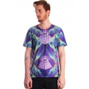 CAMISETA ILLUMINATI ESTAMPADA FULL PRINT UNISSEX