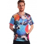 CAMISETA GALAXY ESTAMPADA FULL PRINT UNISSEX INTERSTELLAR