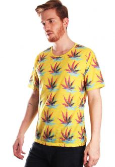 CAMISETA MACONHA ESTAMPADA FULL PRINT UNISSEX MARY JANE