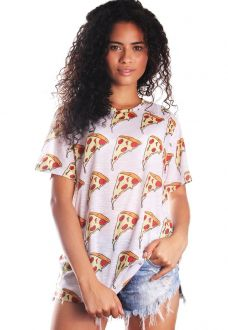 CAMISETA PIZZA ESTAMPADA FULL PRINT UNISSEX PIZZANESS