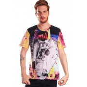 CAMISETA ESTAMPADA FULL PRINT UNISSEX GALAXY SPACEMAN