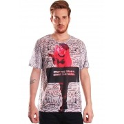 CAMISETA LADY GAGA ESTAMPADA FULL PRINT UNISSEX STOP THE DRAMA