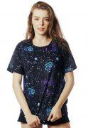 CAMISETA GALAXY ESTAMPADA FULL PRINT UNISSEX CONSTELAÇÕES