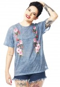 Camiseta Rosas Flores Estampada Full Print Unissex Fashion Jeans BF3