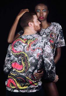 Blusa Moletom Estampado Full Print Unissex Oriental Kobra