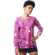 MOLETOM ESTAMPADO FULL PRINT UNISSEX QUEENS ROUPAS TUMBLR