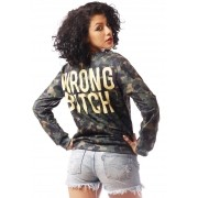 MOLETOM CAMUFLADO ESTAMPADO FULL PRINT UNISSEX WRONG BITCH