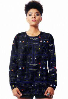 Blusa Moletom Geek Estampado Full Print Unissex Pacman Atari