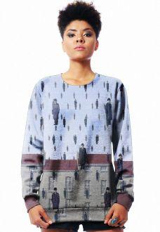 Blusa Moletom Magritte Estampado Full Print Unissex
