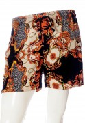 Shorts Barroco Estampado Animal Print Unissex Preto