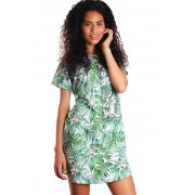 VESTIDO CAMISETÃO FULL PRINT TROPICAL FUN