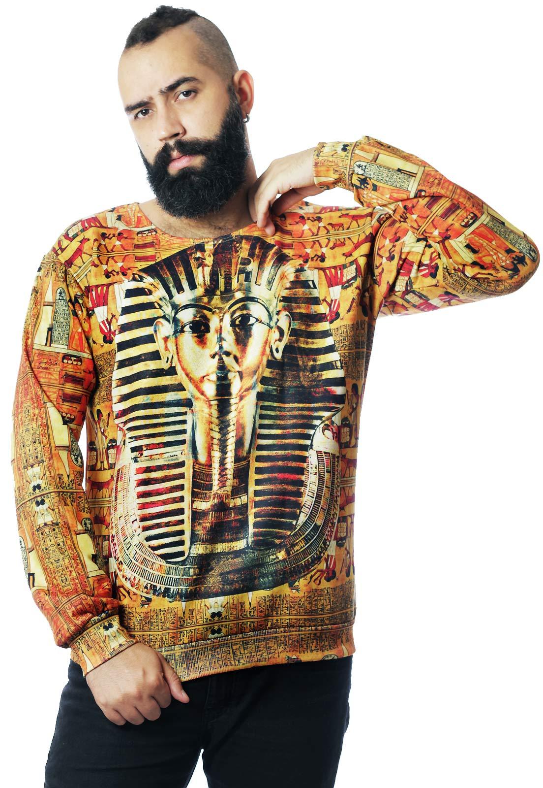 Blusa Moletom Egito Estampado Full Print Unissex Egypt