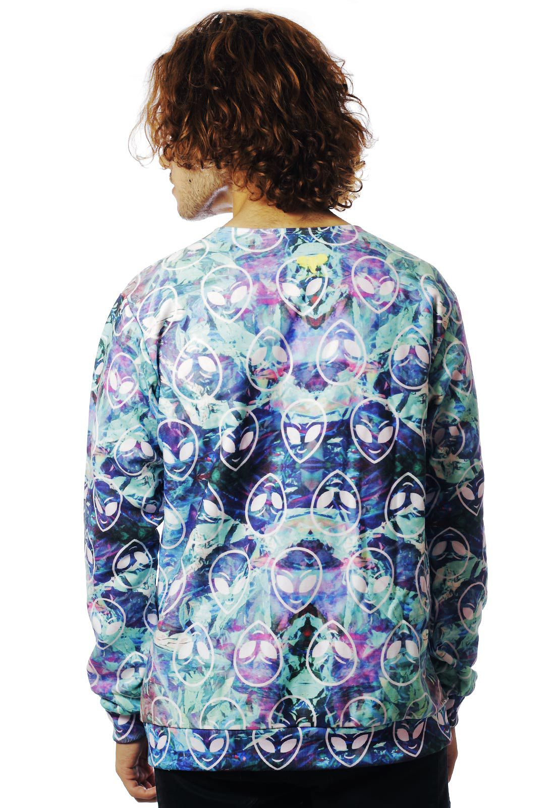 Blusa Moletom Tumblr Estampado ElephunK Full Print Unissex Aliens