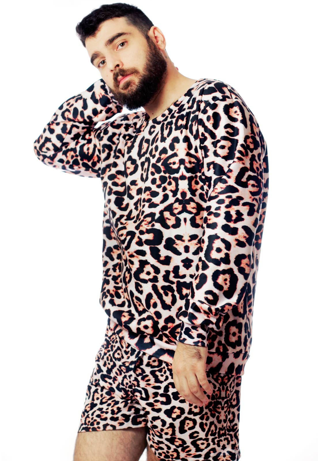 Blusa Moletom Estampado Full Print Unissex Animal Print Guepardo