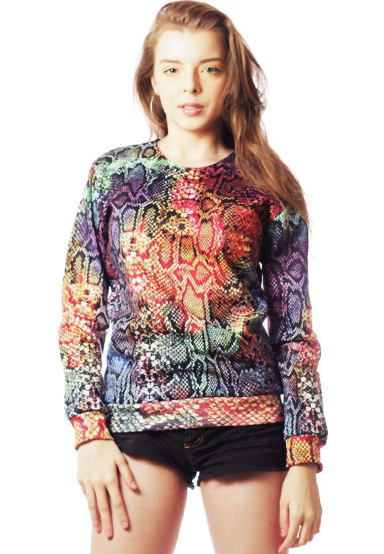 Blusa Moletom Animal Print Estampado Full Print Unissex Serpente