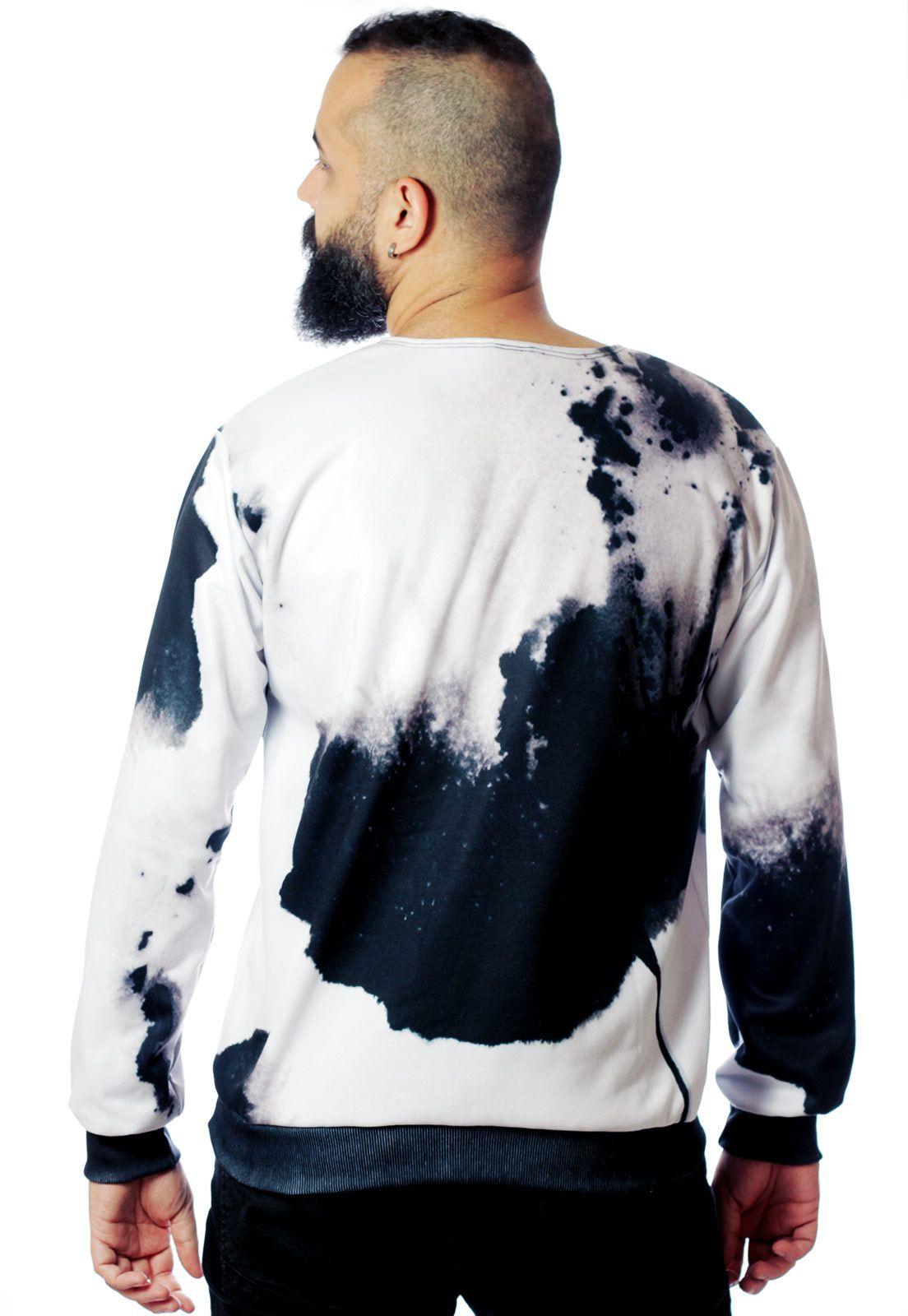 Blusa Moletom Estampado ElephunK Full Print Unissex Bleach
