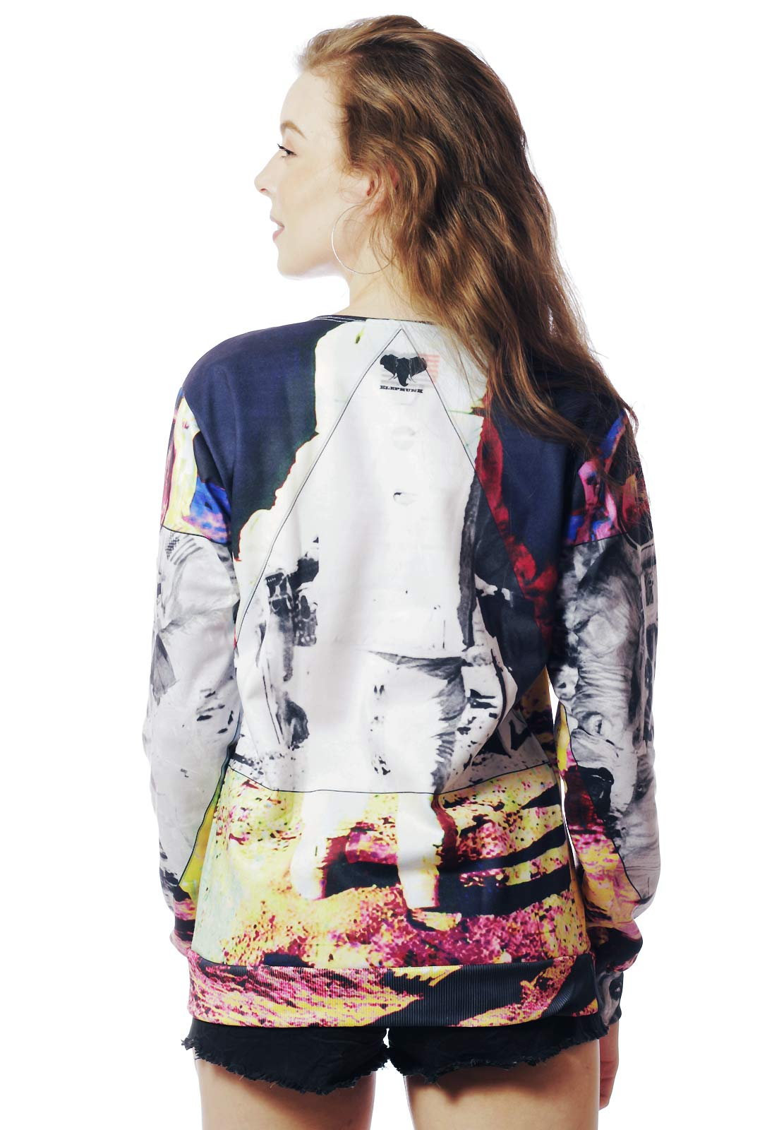 Blusa Moletom Estampado Full Print Unissex Galaxy Spaceman