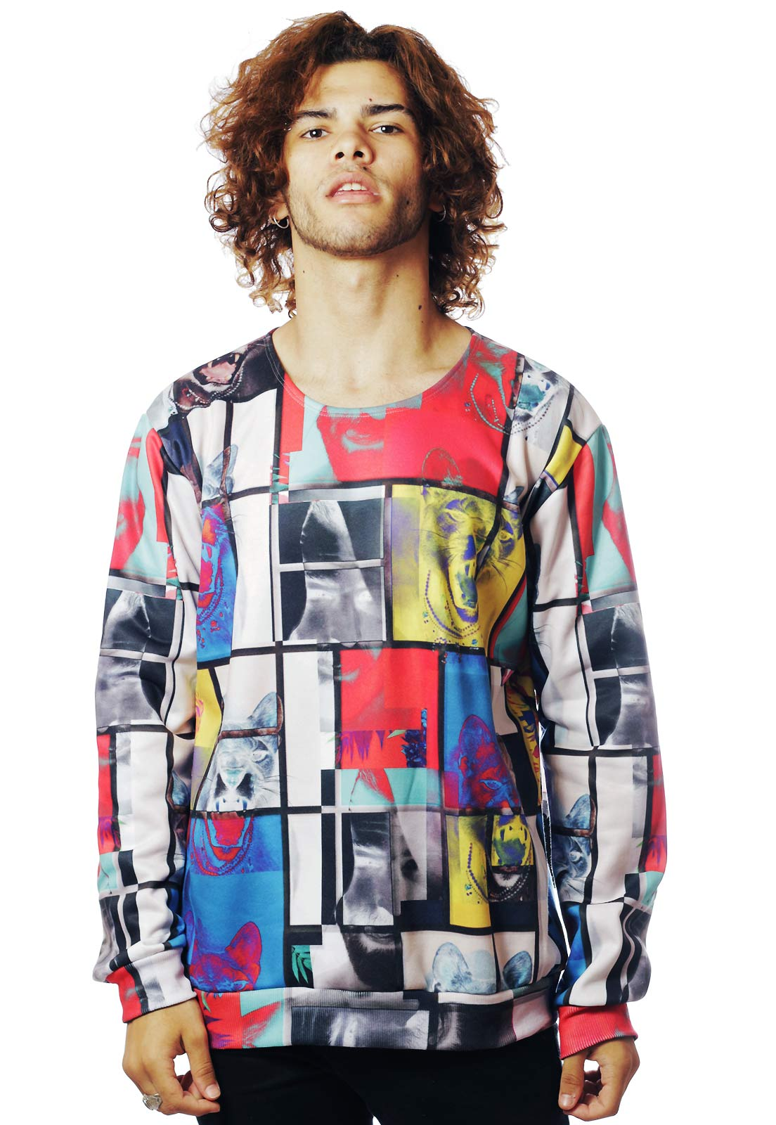 BLUSA MOLETOM ESTAMPADO FULL PRINT UNISSEX JE SUIS L'ART TUMBLR