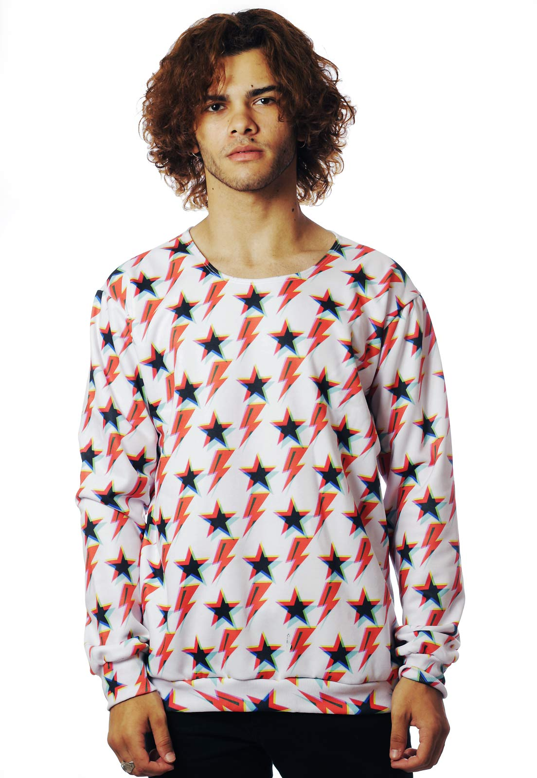 BLUSA MOLETOM ESTAMPADO FULL PRINT UNISSEX ZIGGY STAR