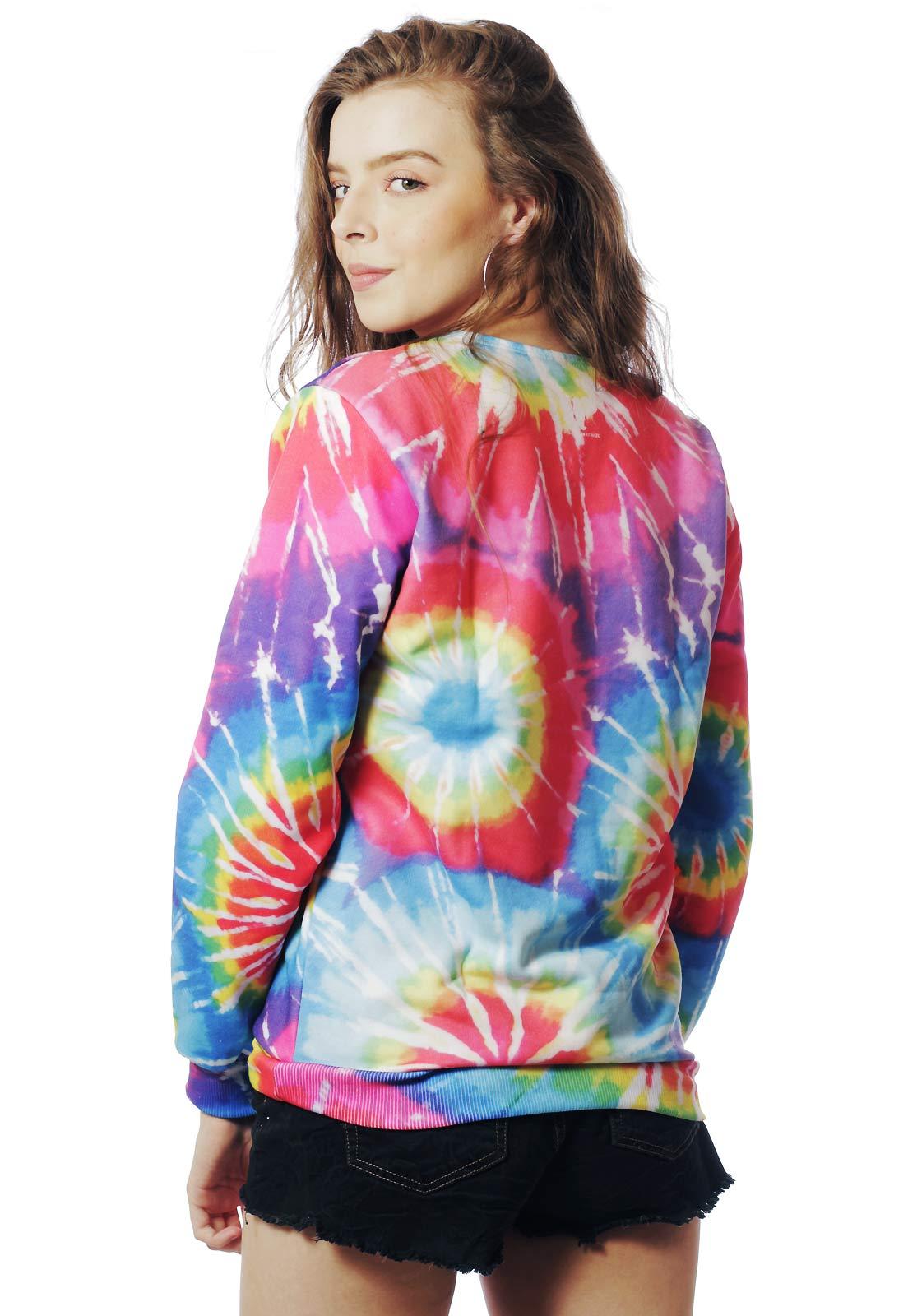 Blusa Moletom Estampado Unissex Hippie Wolf Psicodélico Tumblr