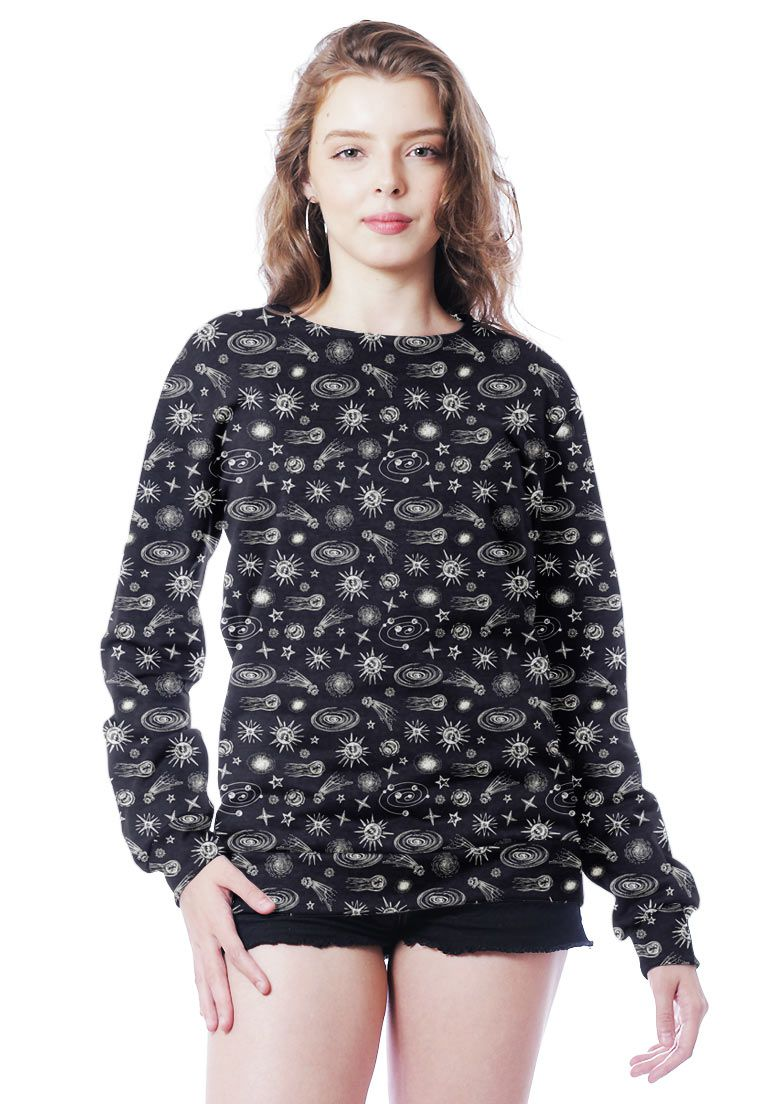 BLUSA MOLETOM GALAXY ESTAMPADO FULL PRINT UNISSEX STARLINE