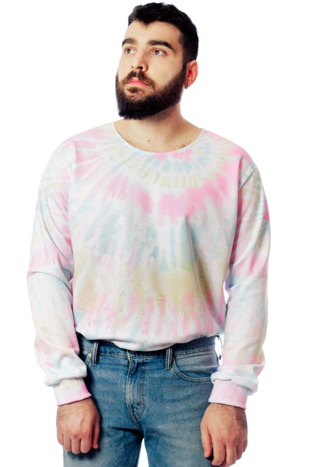 Blusa Moletom Tie Dye Estampado ElephunK Full Print Unissex ToneDown