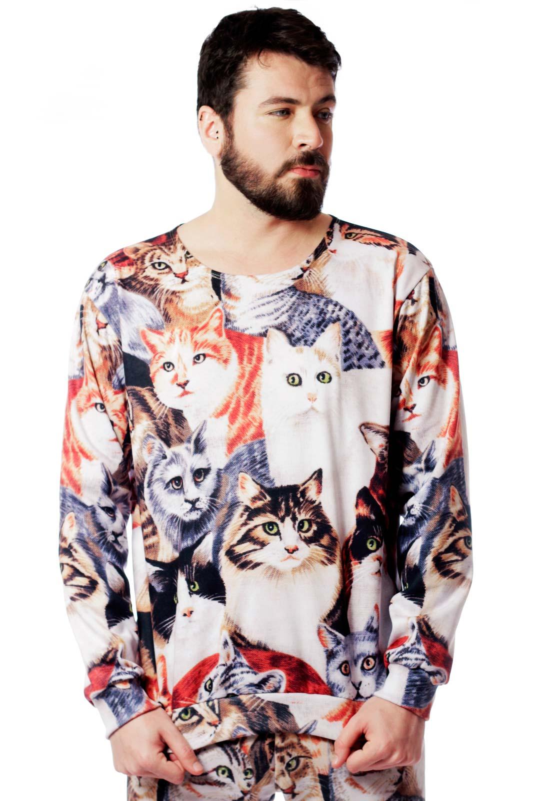 Blusa Moletom Tumblr Estampado ElephunK Full Print Unissex Gatíneos