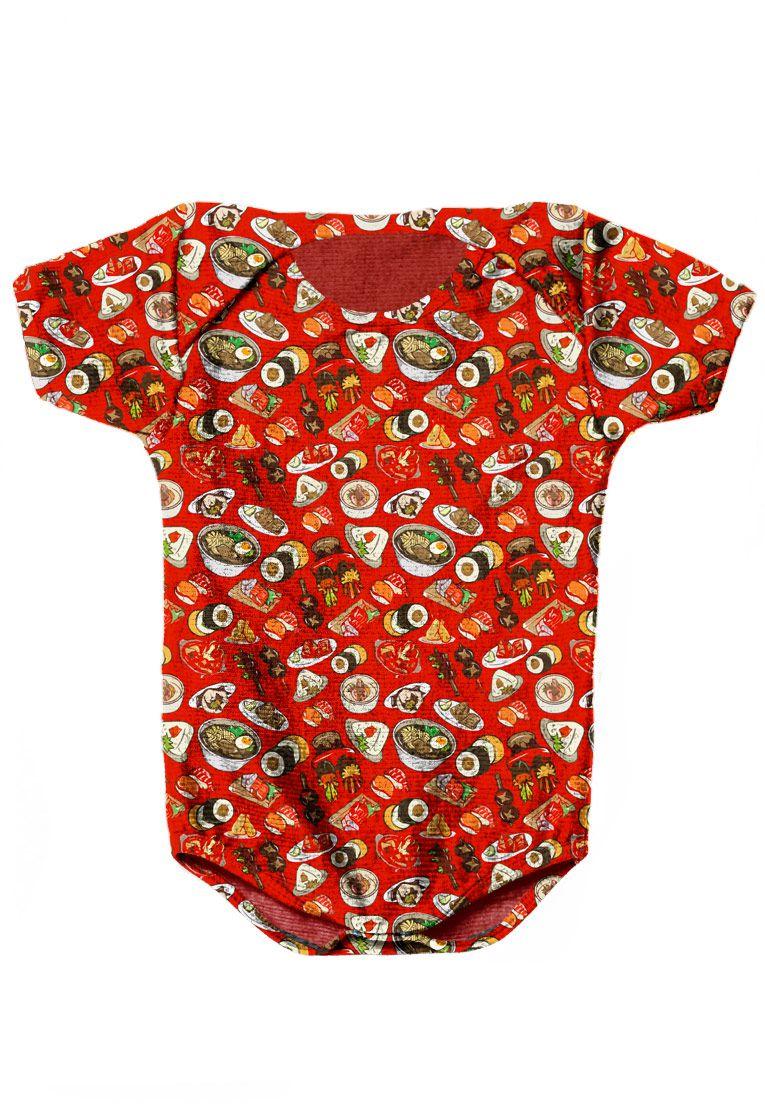 BODY INFANTIL ESTAMPADO FULL PRINT #FOODPORN