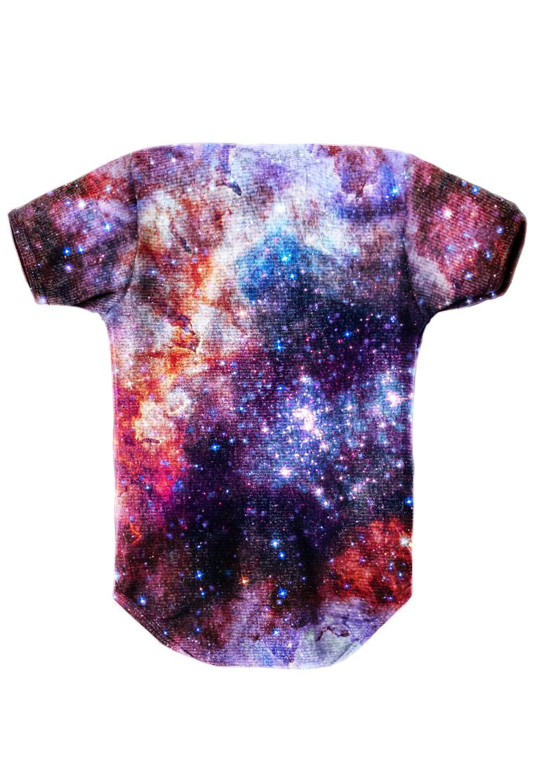 BODY INFANTIL ESTAMPADO FULL PRINT GALAXY NEBULOSA