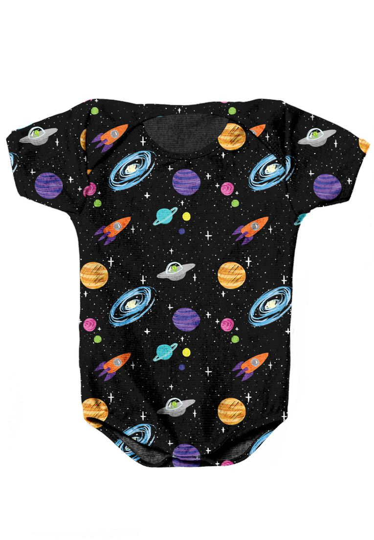 BODY INFANTIL ESTAMPADO FULL PRINT GALAXY UNIVERSAL