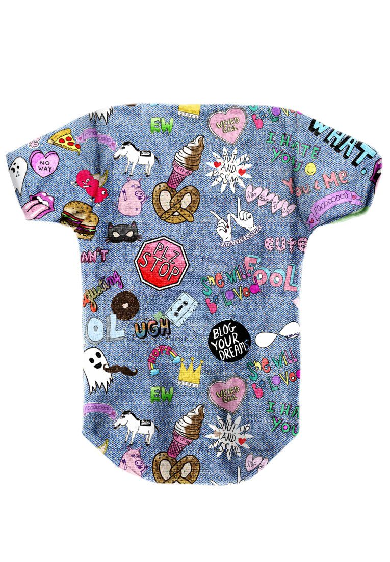 BODY INFANTIL ESTAMPADO FULL PRINT LOL JEANS