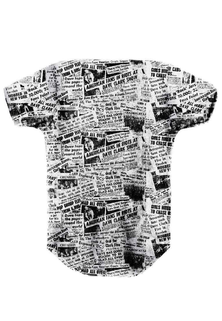 BODY INFANTIL ESTAMPADO FULL PRINT NEWSPAPER