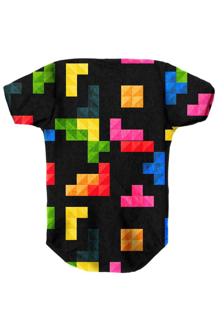 BODY INFANTIL ESTAMPADO FULL PRINT TETRIS