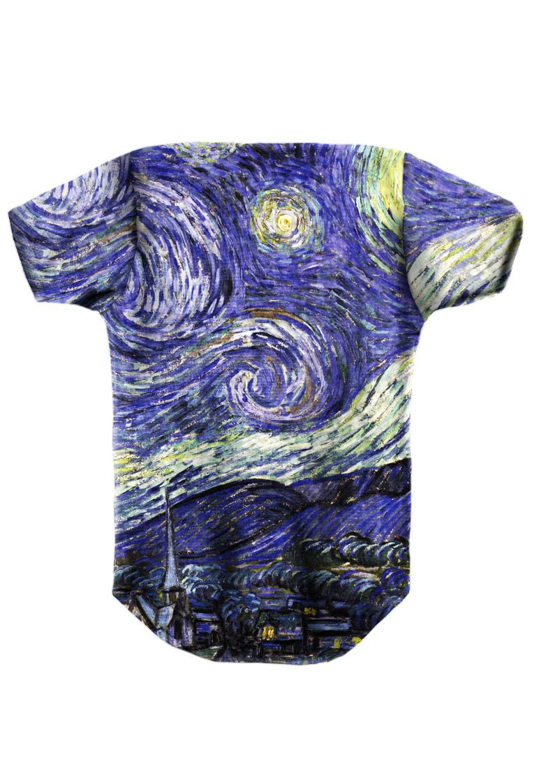 BODY INFANTIL ESTAMPADO FULL PRINT VAN GOGH